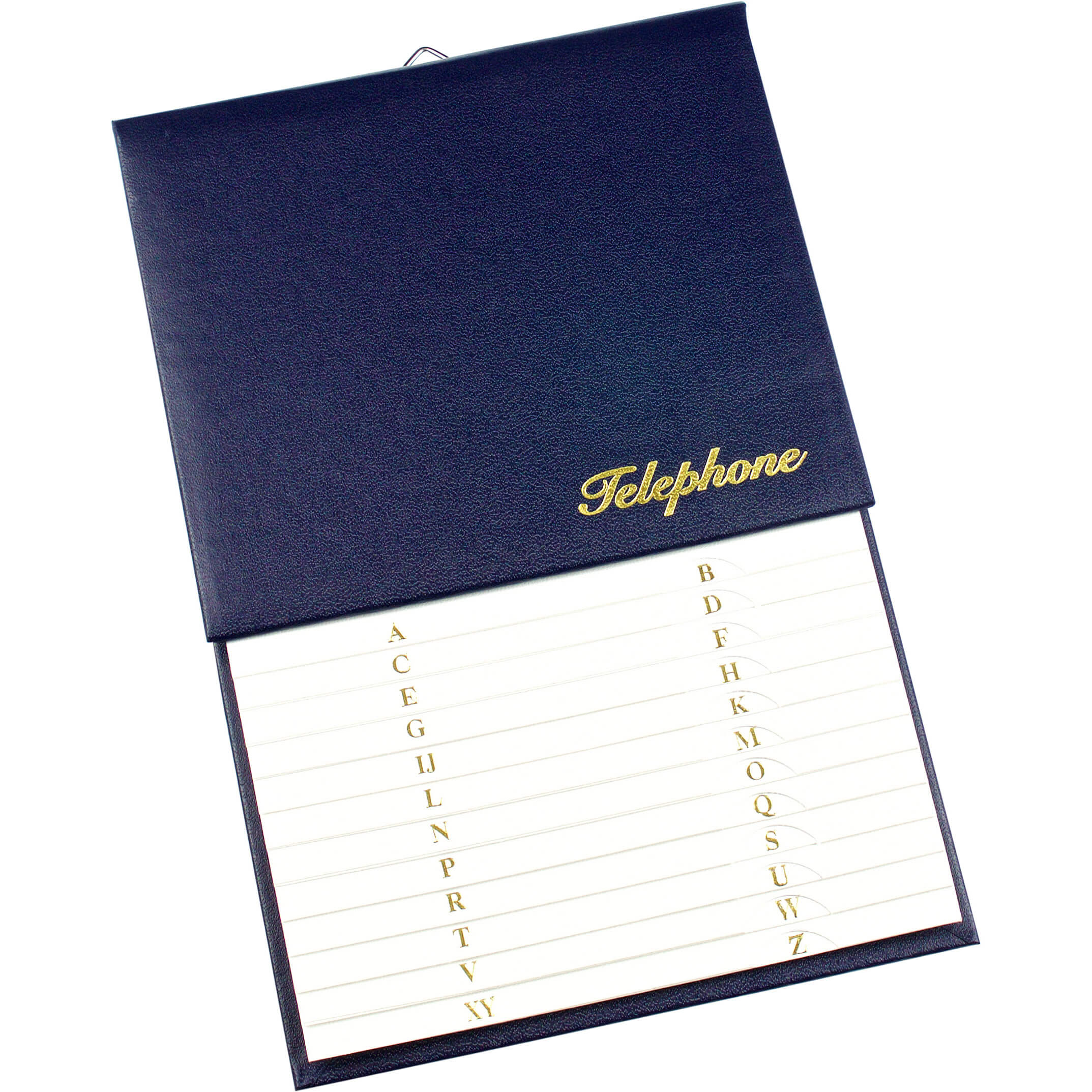 Esposti Address & Telephone Index - Vinyl Grained Cover - Blue - Size 150 x 230mm