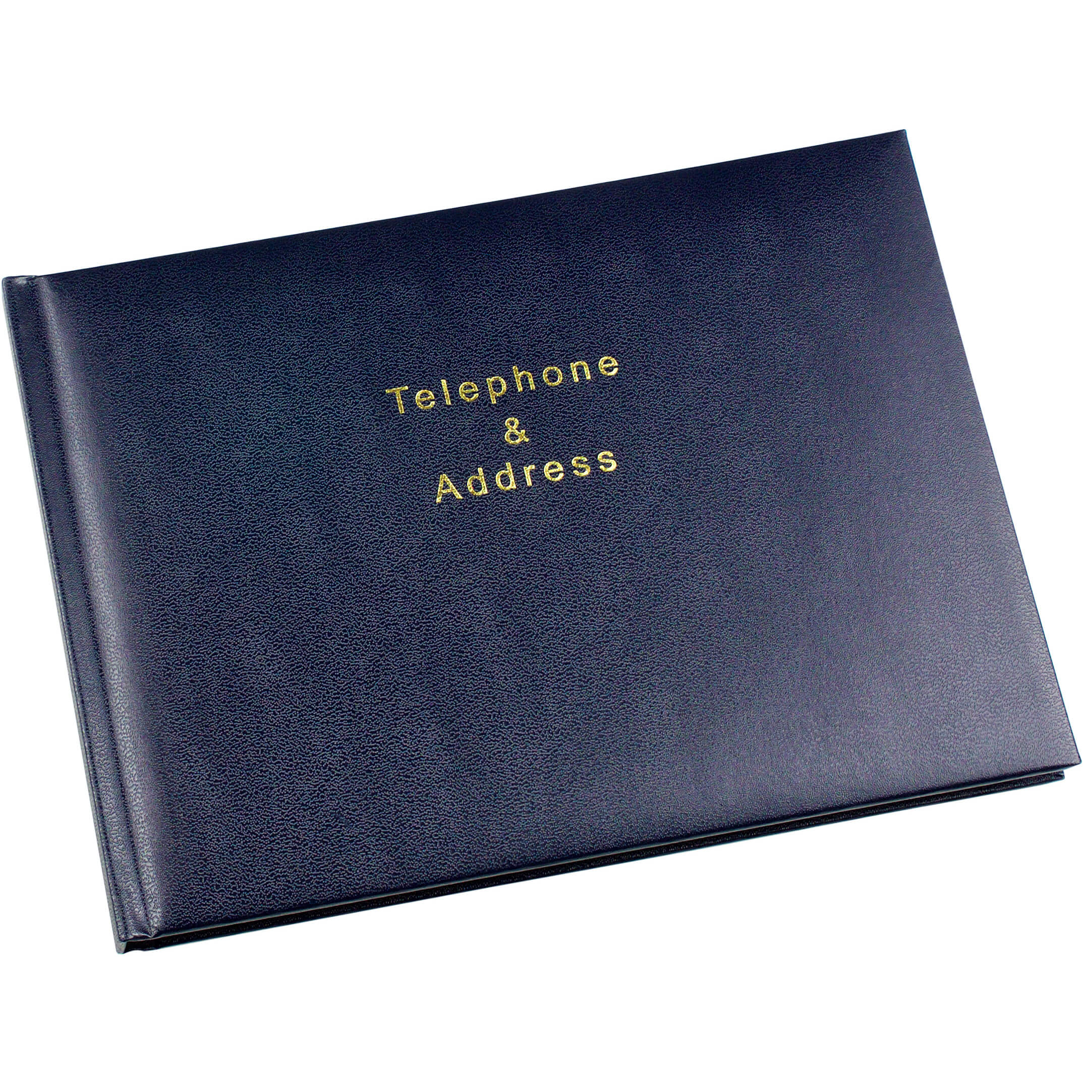 Esposti Telephone and Address Book - 64 pages (128 sides) - Blue - Size 215 x 160mm
