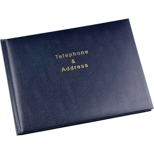 Esposti Telephone and Address Book - 64 pages (128 sides) - Blue - Size 215 x 160mm - EL53-Blue - 5022383008843