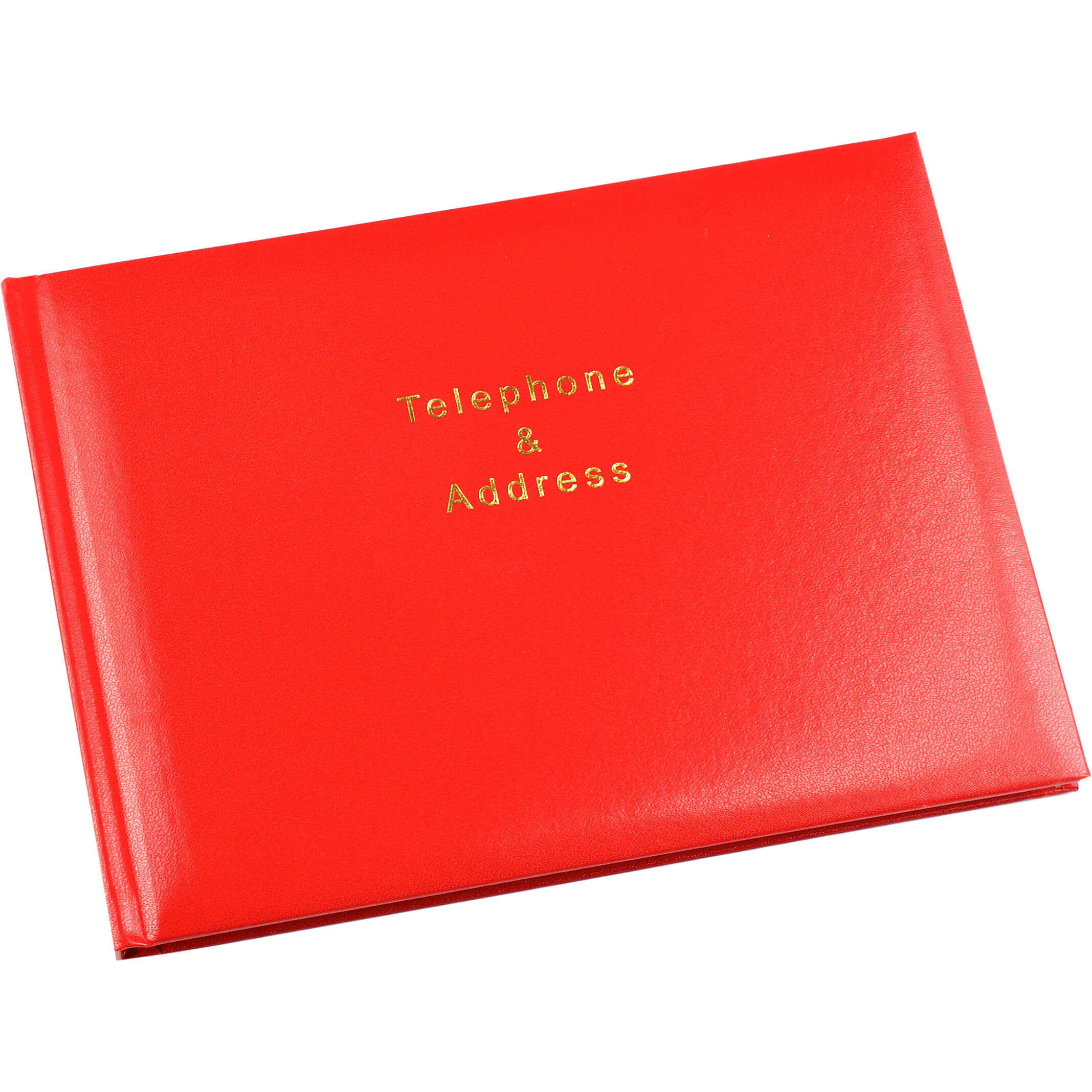 Esposti Telephone and Address Book - 64 pages (128 Sides) - Red - Size 215 x 160mm