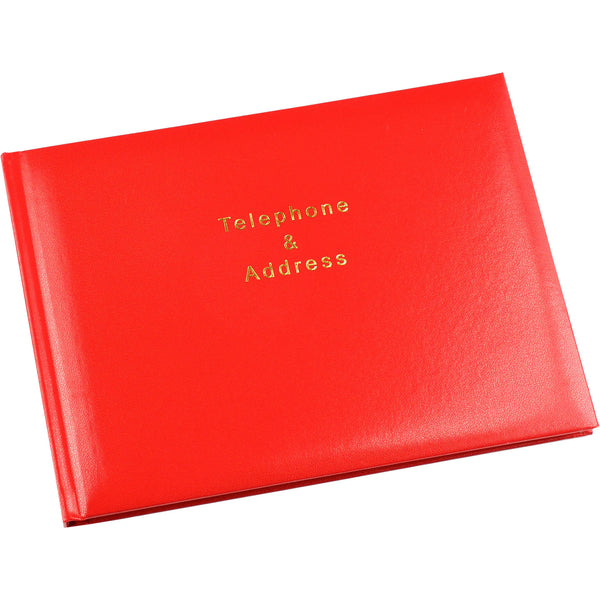 Esposti Telephone and Address Book - 64 pages (128 Sides) - Red - Size 215 x 160mm - EL53-Red - 5022383008836