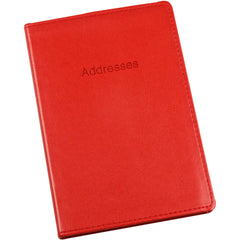 Esposti Address Book - Soft Leather Feel Stitched Cover - Red - Size 131 x 196mm - EL337-Red - 5022383774106
