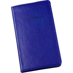 Esposti Slim Address Book With Stitched Leather Feel Cover - Blue - Size 85 x 148mm - EL336-Blue - 5022383774076