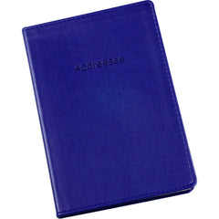 Esposti Address Book - Soft Leather Feel Stitched Cover - Blue - Size 131 x 196mm - EL337-Blue - 5022383774090