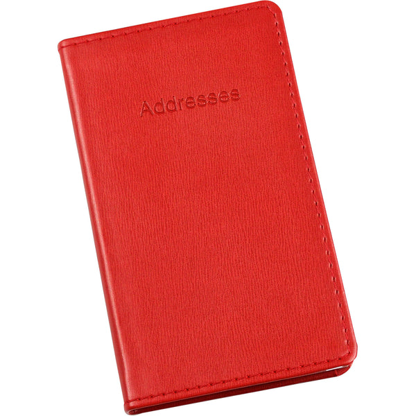 Esposti Slim Address Book With Stitched Leather Feel Cover - Red - Size 85 x 148mm - EL336-Red - 5022383774083