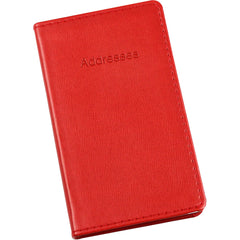 Esposti Slim Address Book With Stitched Leather Feel Cover - Red - Size 85 x 148mm