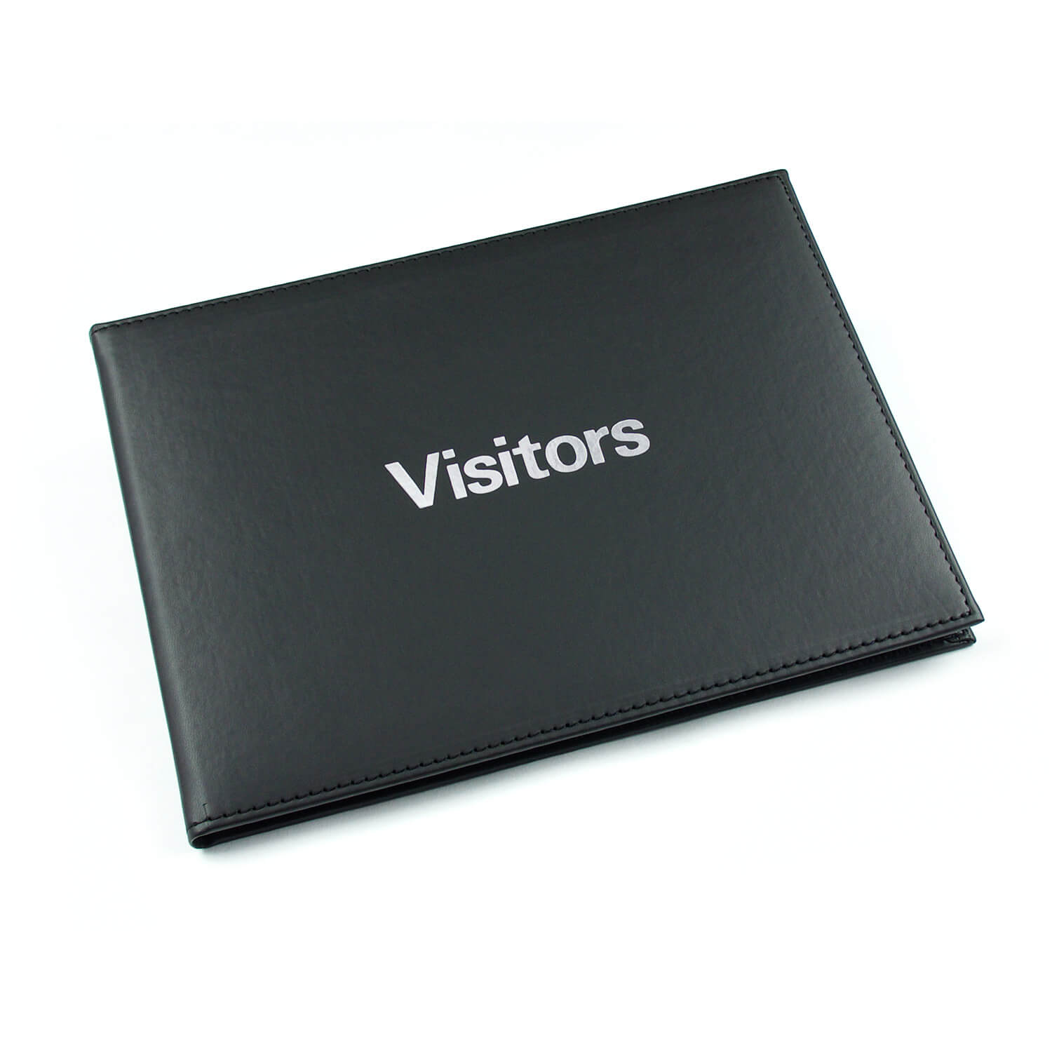 Esposti Visitors & Guest Book – Leather Feel - 600 entries - Black - (Size 26.5cm x 19.5cm)