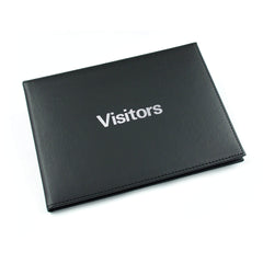 Esposti Visitors & Guest Book - Leather Feel Cover - 600 entries - Black - Size 26.5cm x 19.5cm - EL314B - 5022383010853