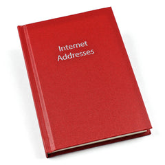 Esposti Internet Adressess - Flip Over Book - Red - 15.5cm x 11cm - EL357-Red - 5022383773758