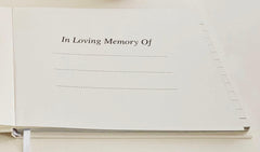 Esposti Funeral Condolence Book 'Forever In Our Hearts' - Open Format Pages - Presentation Boxed - Pale Ivory - Size 228 x 170mm