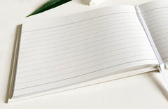 Esposti In Loving Memory Condolence Book - Open Format Inner Pages - Presentation Boxed - Pale Ivory - Size 228 x 170mm