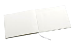 Esposti In Loving Memory Condolence Book - Open Format - Pale Ivory Cover - Size 228 x 170mm & Table Sign