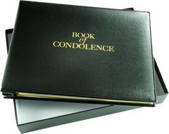 Esposti Book of Condolence - Loose Leaf - Funeral Guest Registration - Presentation Boxed - Black - Size 26.5 x 19.5cm