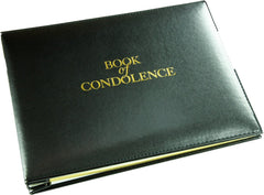 Esposti Book of Condolence - Loose Leaf - Presentation Boxed - Black - Size 265 x 195mm - & Table Sign