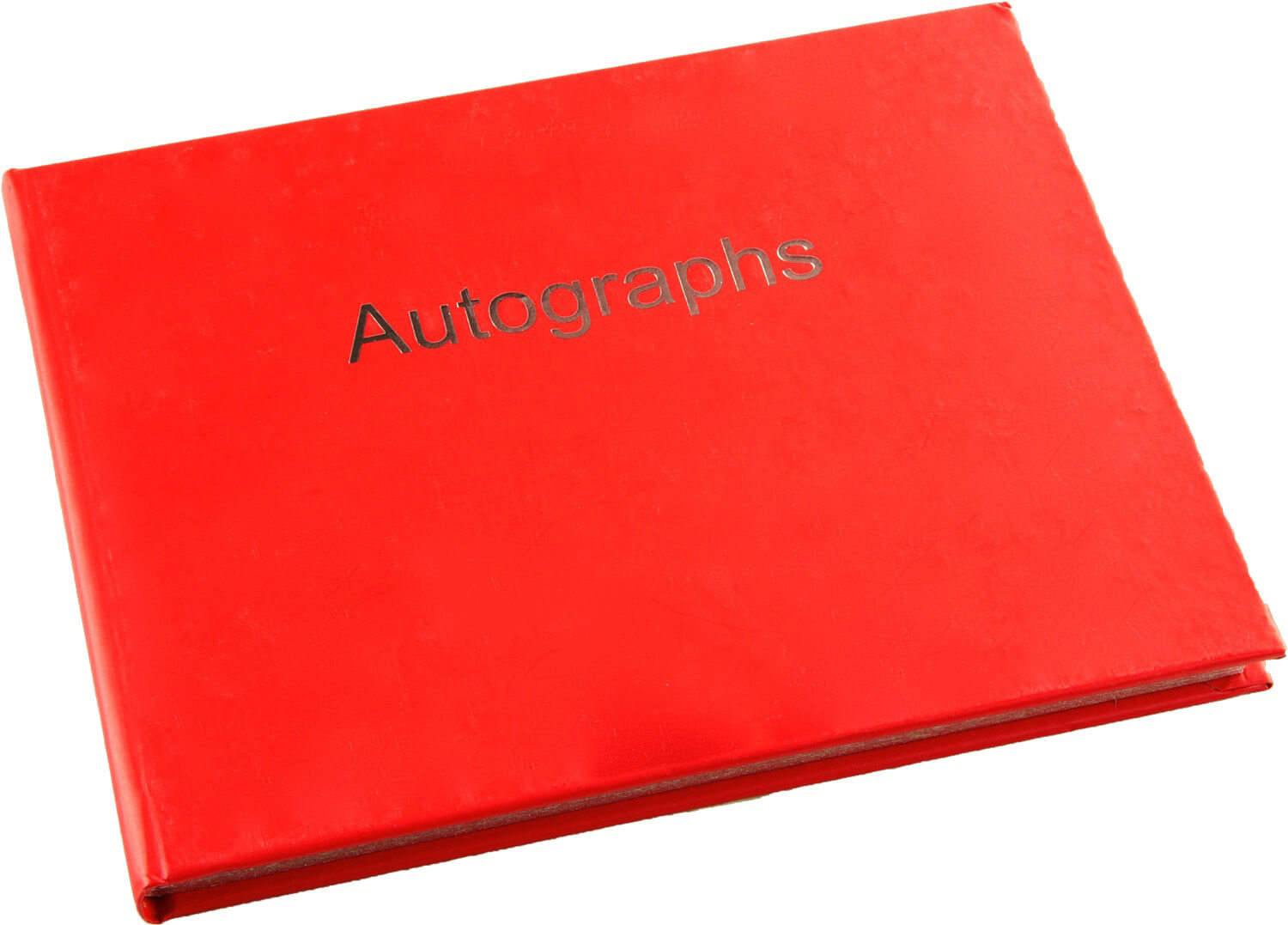 Esposti Autograph Book - Hardback Cover - Silver Edged Pages - Red - Size 130 x 110mm