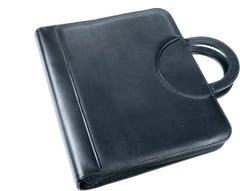 Esposti Drop Handle Conference Case with Full zip closure - Black