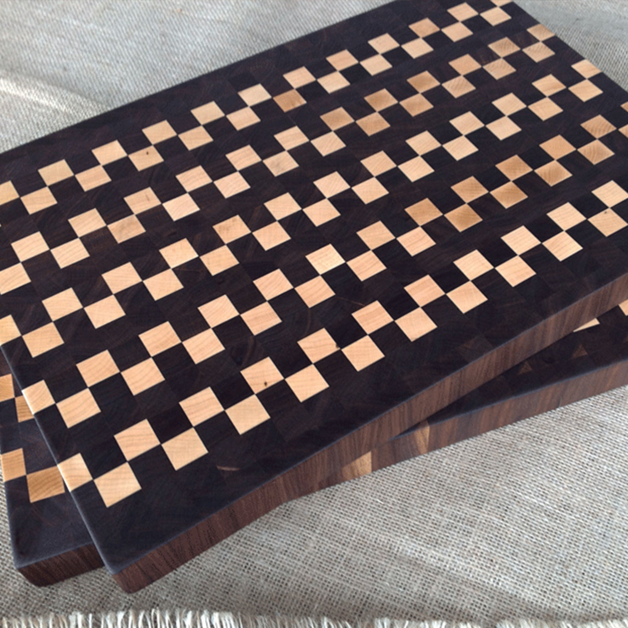 The Making of a Black Walnut and Maple End Grain Cutting Board