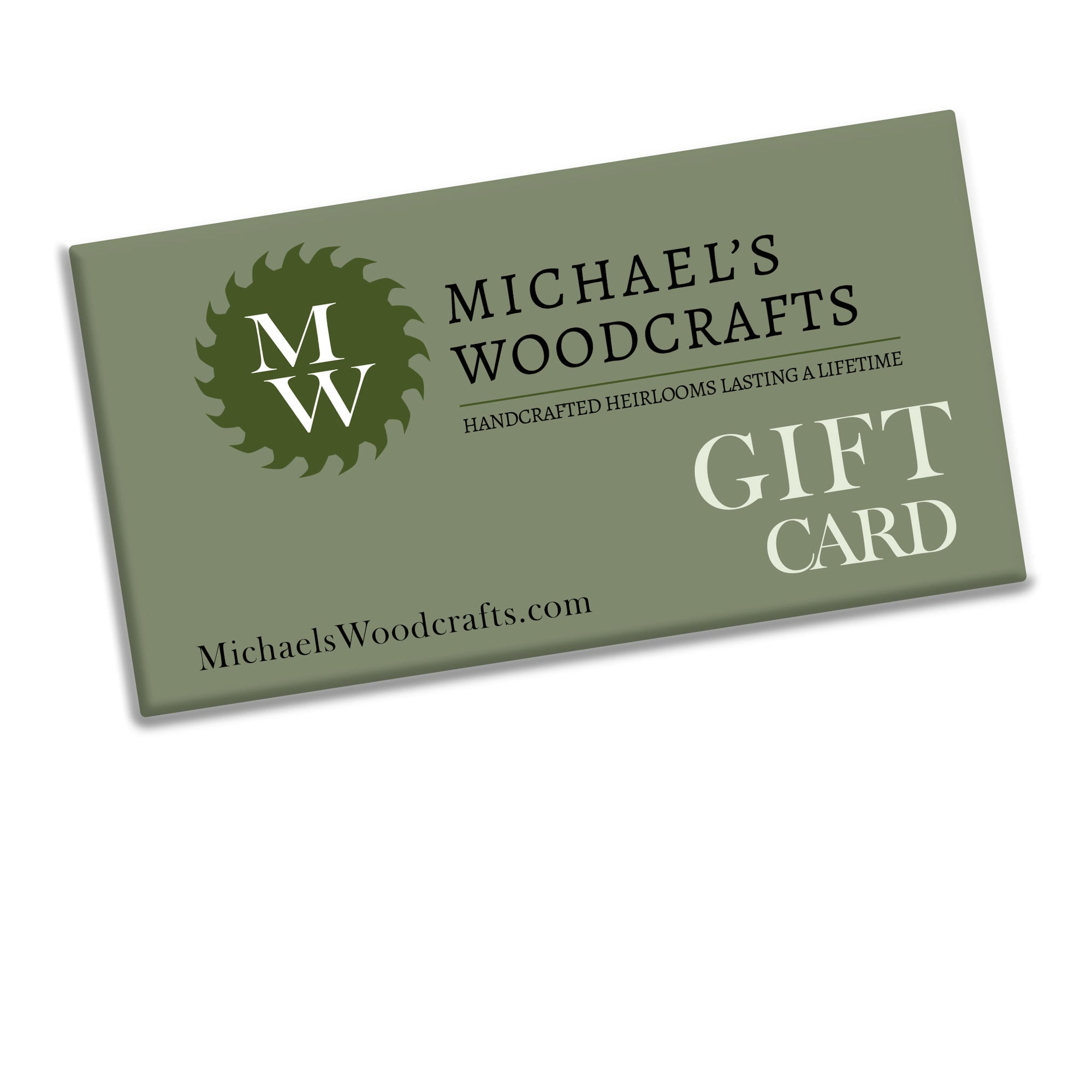 Gift card to michaelswoodcrafts.com