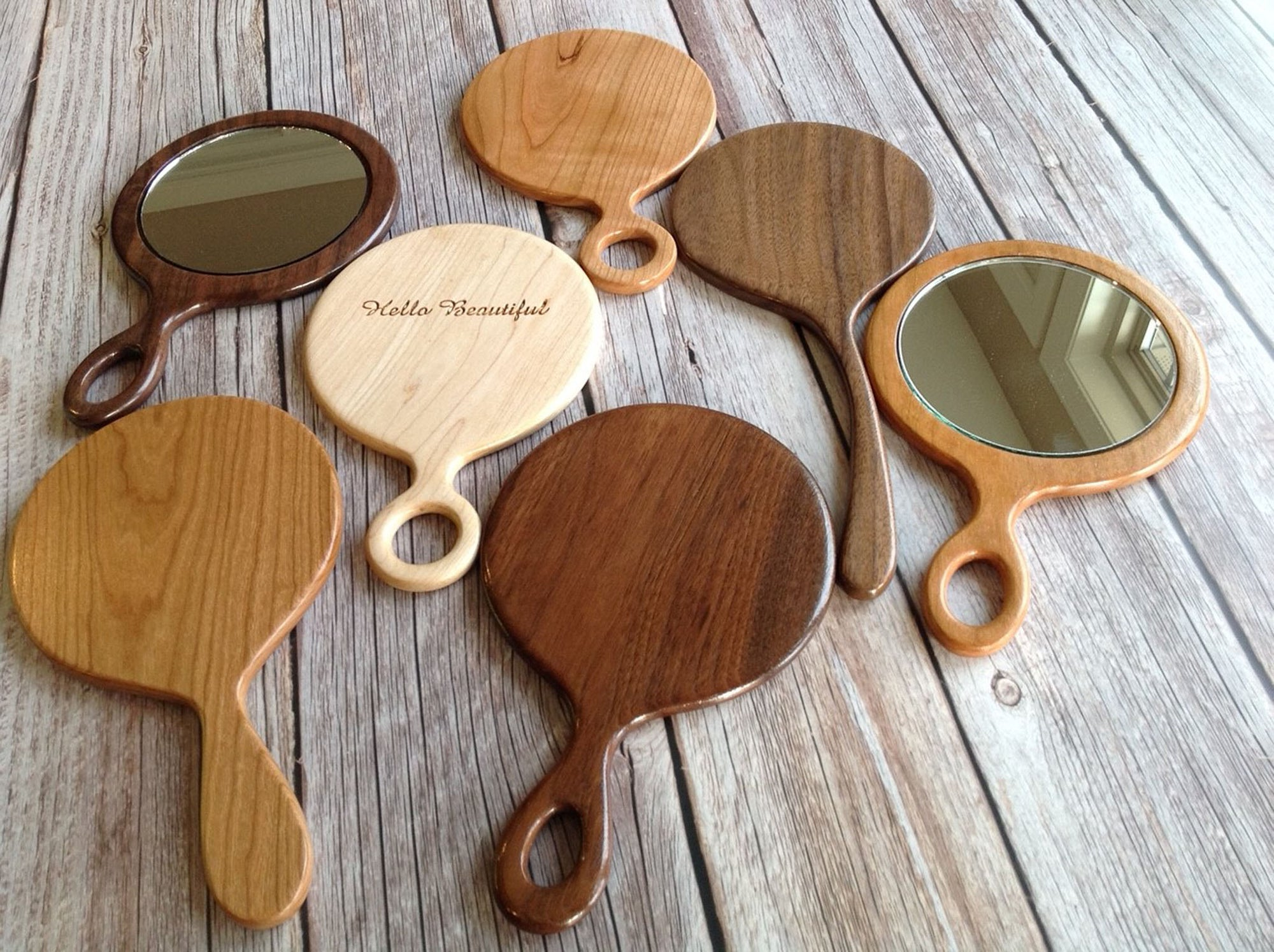 handcrafted hand mirrors vintage designs by Michael's Woodcrafts