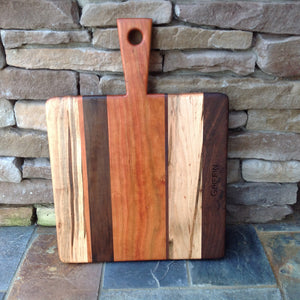 Cherry, Walnut and Maple Charcuterie board by Michael's Woodcrafts