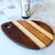 Teardrop shaped charcuterie board by Michaels Woodcrafts woodworking