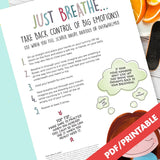 Just Breathe Poster | Resilient ME Printable