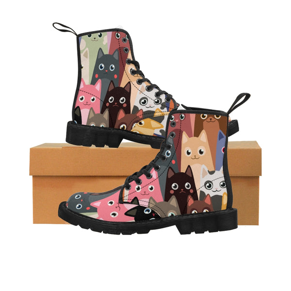 Women's Cat Canvas Boots