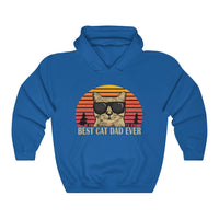 "'Best Cat Dad Ever"" Hooded Sweatshirt."