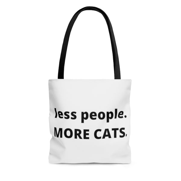 less people MORE CATS Tote Bag