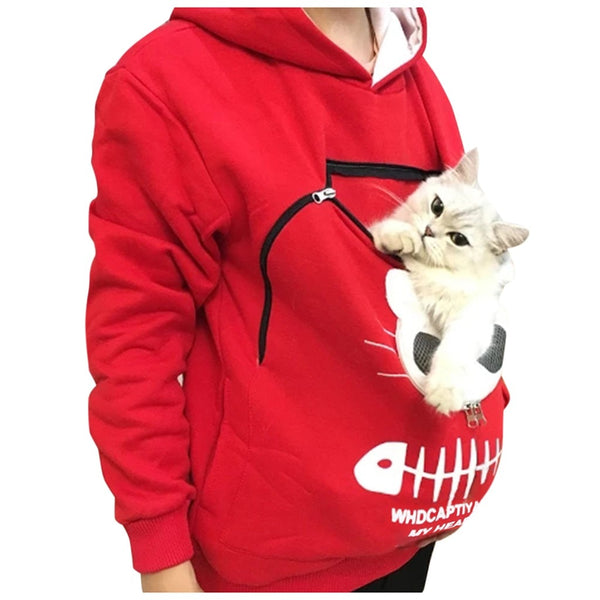 Cat Hoodie with Cat Carrying Pouch.