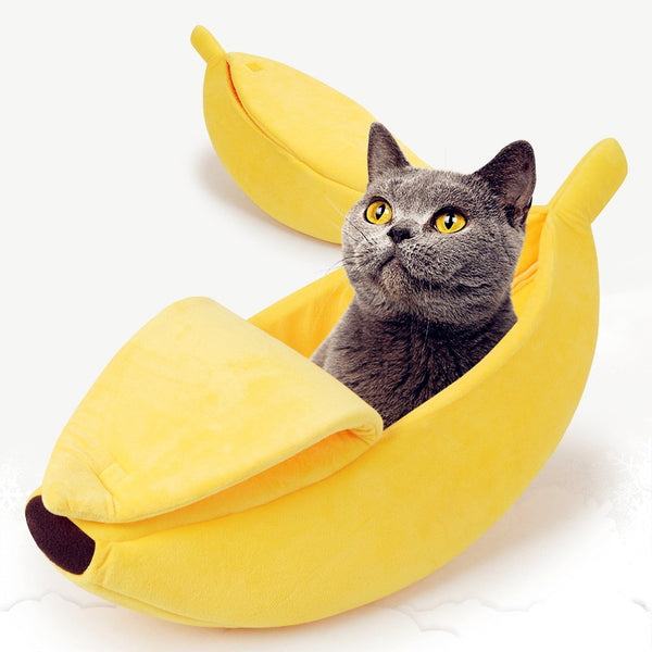 Banana Bed for Cats, Kittens & Small Dogs.