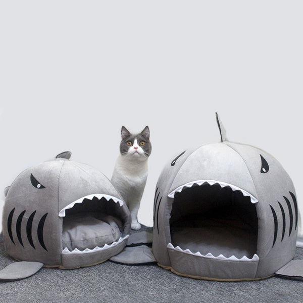 Novelty Shark Super Comfy Cat Bed
