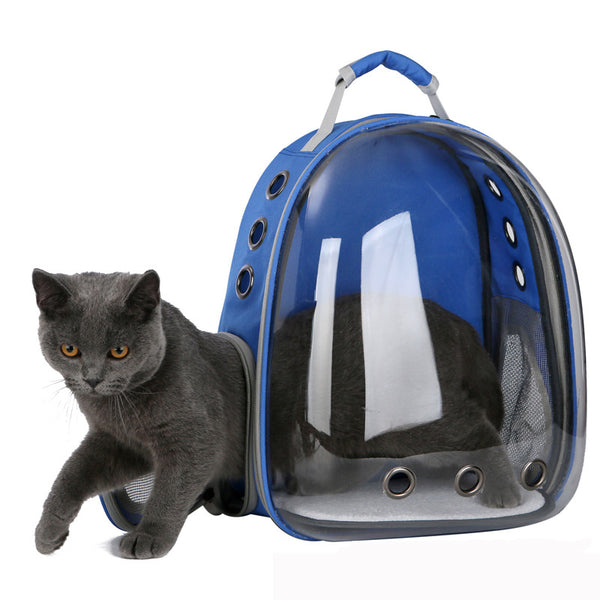Fully Transparent Cat (or Puppy) Backpack - Pet Carrier.