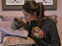 """Best Cat Mom Ever"" Unisex Crewneck Sweatshirt"