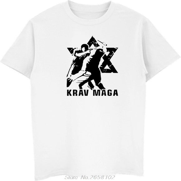Print T-Shirt Krav Maga (Martial Art Self Defense Israel Combat )