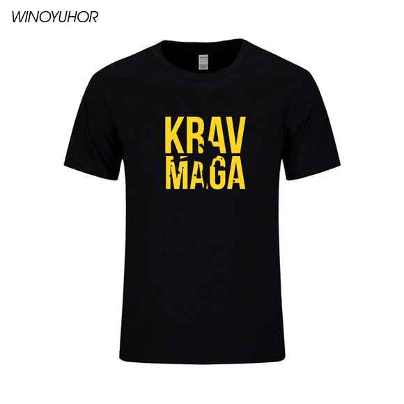 Krav Maga Israeli Martial Arts Print Short Sleeve Cotton T Shirt