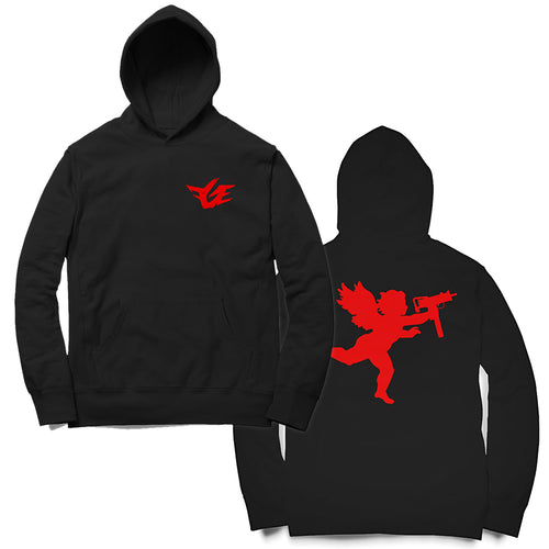 FGE Angel With An Uzi Hoodie (Black/Red)