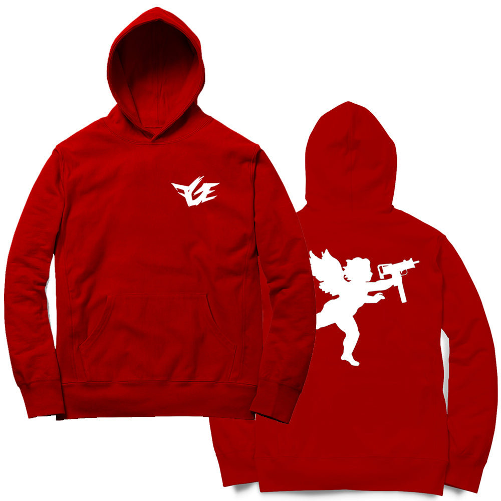 FGE Angel With An Uzi Hoodie (Red/White)