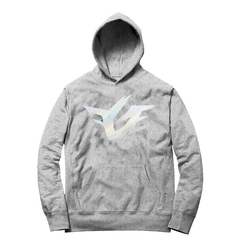 FGE REFLECTIVE HOODIE (Heather Grey/Silver Reflective)