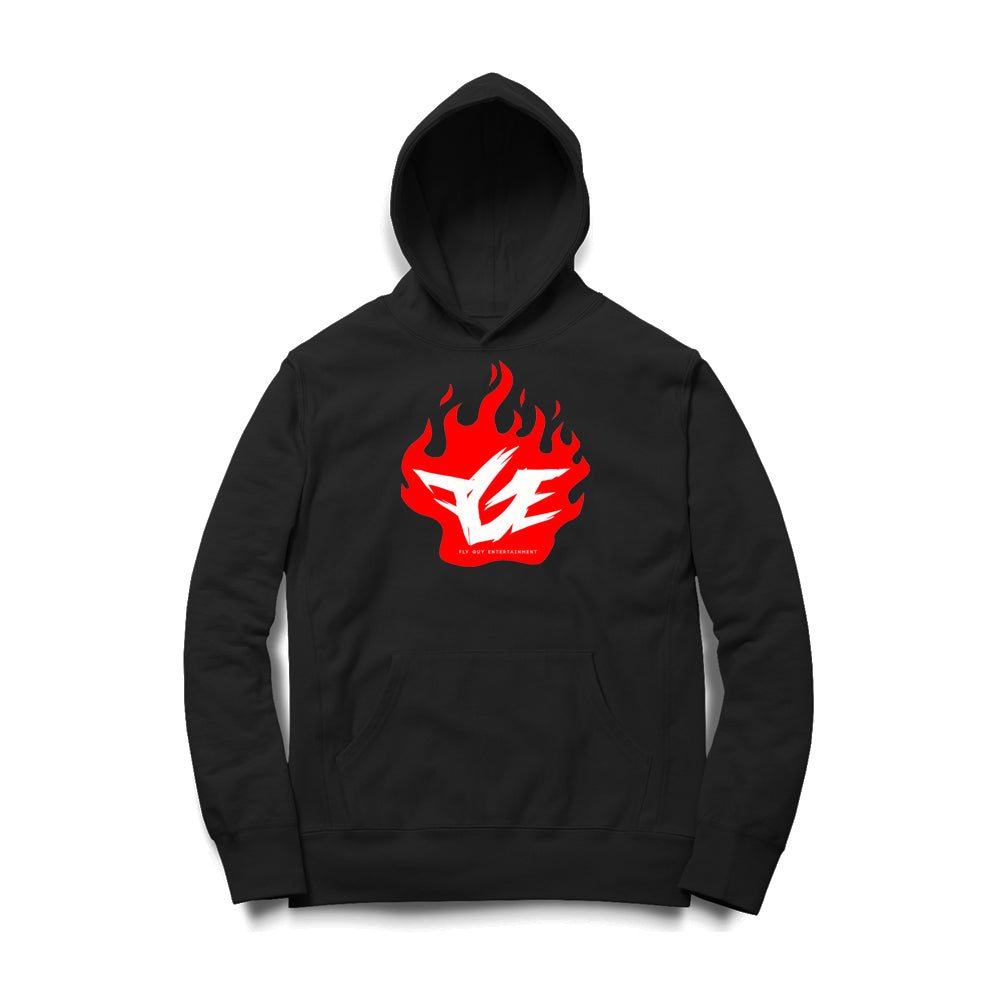 Black Friday Fire Logo Hoodie (Black/Red/White)