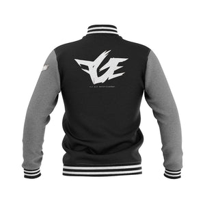 FGE Fleece Varsity Jacket (Replica) (Black/Heather Grey/White) (Pre Order)