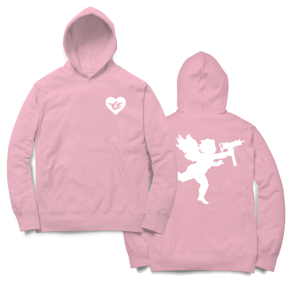 FGE Angel With An Uzi Hoodie (Pink/White)