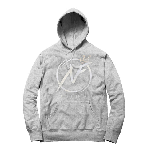 NO FATIGUE REFLECTIVE HOODIE (Heather Grey/Silver Reflective)