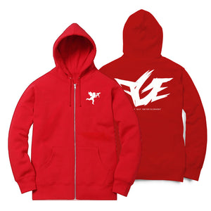 Angel With An Uzi Zip-Up Hoodie (Red/White) (Remix)