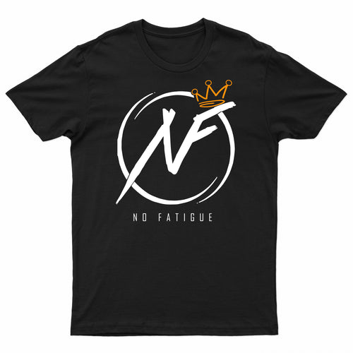 No Fatigue Tee (Black/White/Gold)