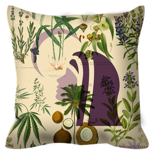 sisters of the valley botanical pillow