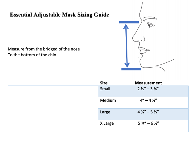 Small - Adjustable Face Mask