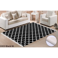 Tapis Oslo black white