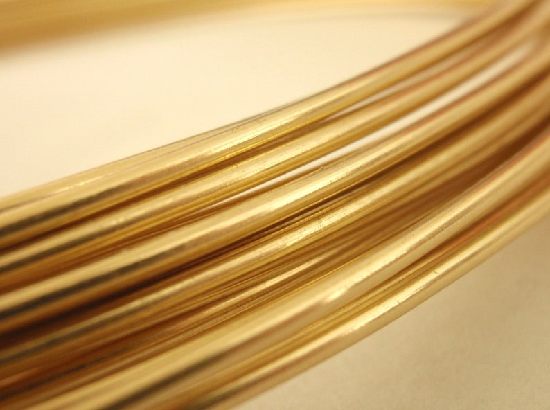Brass Wire - 1 Foot Length