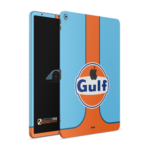 "Apple iPad Pro 12.9"" 3rd Gen (2018) Gulf Racing Full Coverage Skin Kit - ArdorInk"